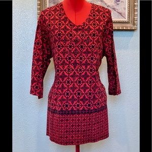 Catherine's red & black lightweight top in size 1X